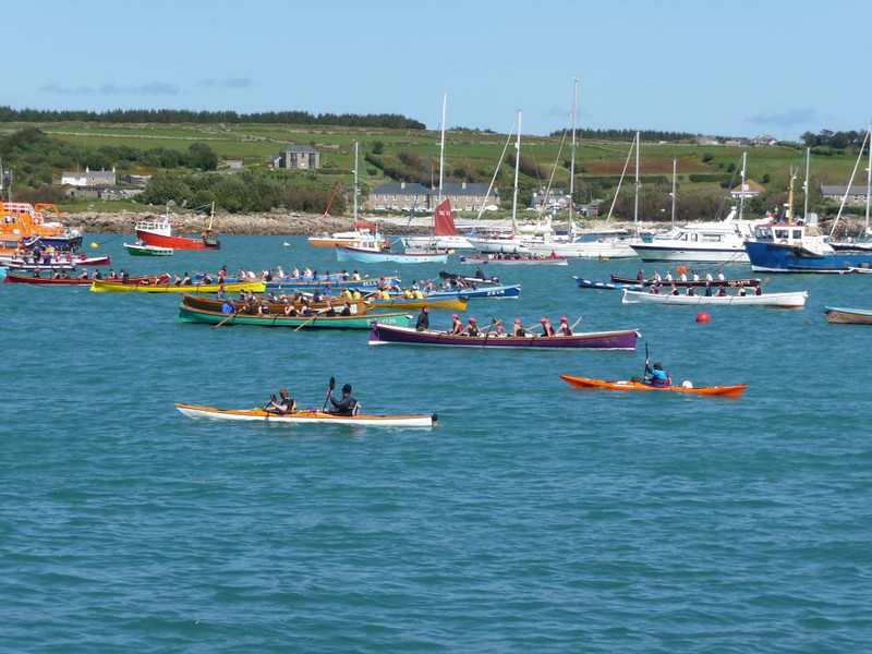 Big 5 team sea kayaks heading out to watch the World Gig racing Championships, St Marys Bay