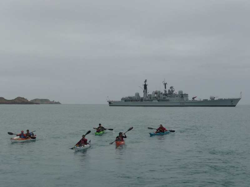 Arriving at the Isles of Scilly to a Royal Navy Security presence
