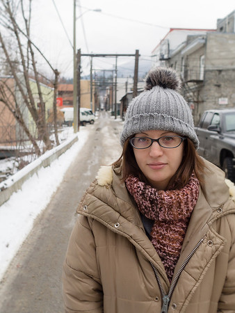 """""""What's something you're struggling with right now?""""<br /> <br /> """"Just before you asked to take my photo, I was thinking about how I'm an introvert - and how that sucks sometimes. Especially this time of year."""""""
