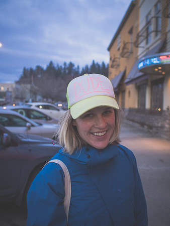 """After we talked about her hat, she told me she was thinking of moving to Nelson and wanted to know why Nelson would be better than the other ski towns she was considering. I told her that Nelson is so difficult to physically get to that the people that live here have generally made a sacrifice to make it happen. So those that are here, are happy to be here. And happy people make for a great community and place to live. In other words, very few Nelsonites are """"stuck"""" here - like many others are stuck in big cities for various reasons - family, jobs, school. What's funny looking back at that conversation is I said nothing about the quality of skiing."""