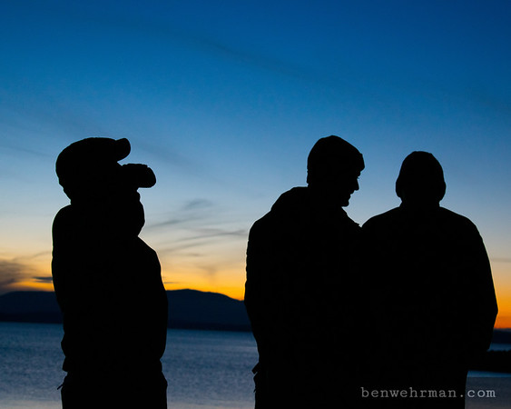 Three friends silhouette