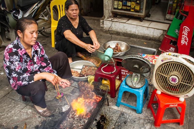 Hanoi, Vietnam. Famous Street Food