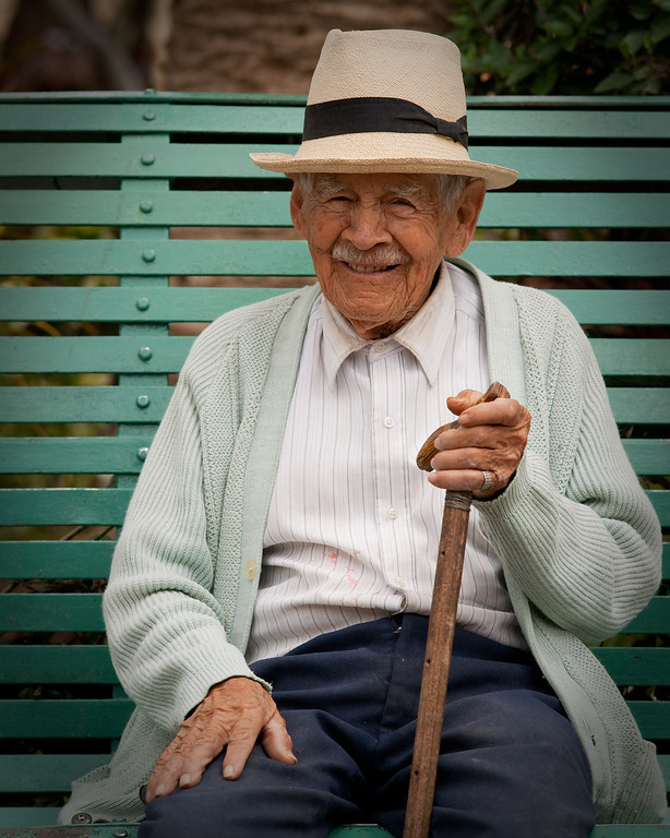 Don Agustin Jaramillo, 100 years old. Vilcabamba, Ecuador.<br /> © Douglas Remington - Ethereal Light Photography, LLC. All Rights Reserved. Do not copy or download.