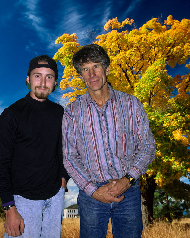 The late, Galen Rowell and I in Eastern Oregon, circa 1994. Galen was my greatest photographic inspiration. Mr. Rowell was arguably the finest adventure and color landscape photographer of all time.