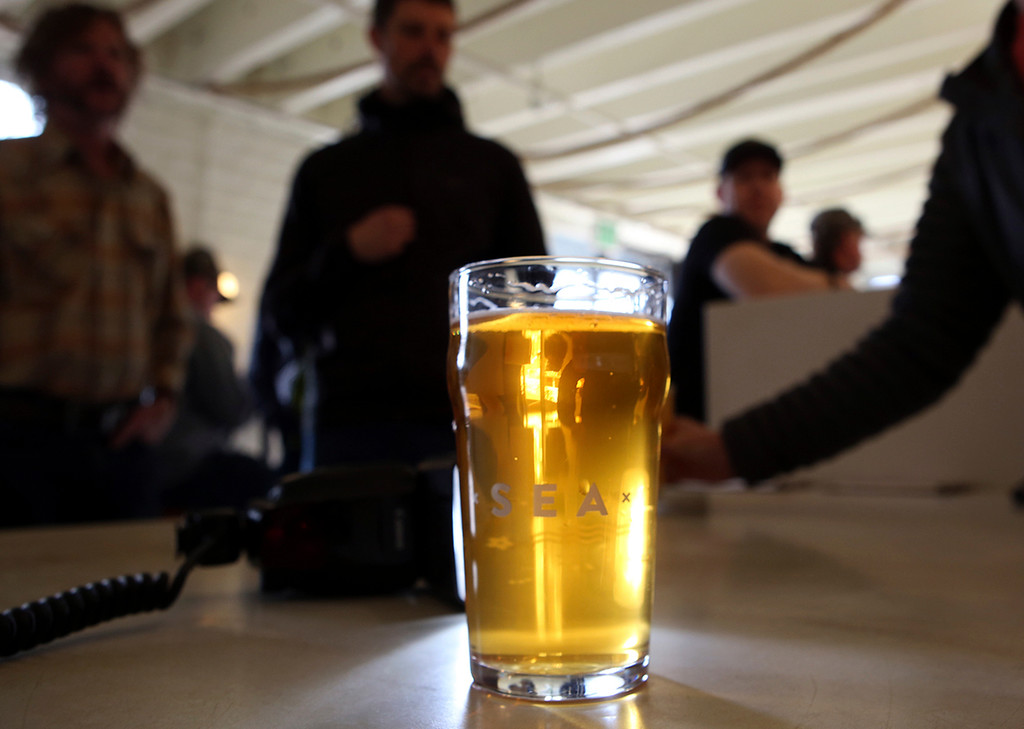 . Of course, in the end, it is about the beer at Humble Sea Brewing Company. (Shmuel Thaler -- Santa Cruz Sentinel)
