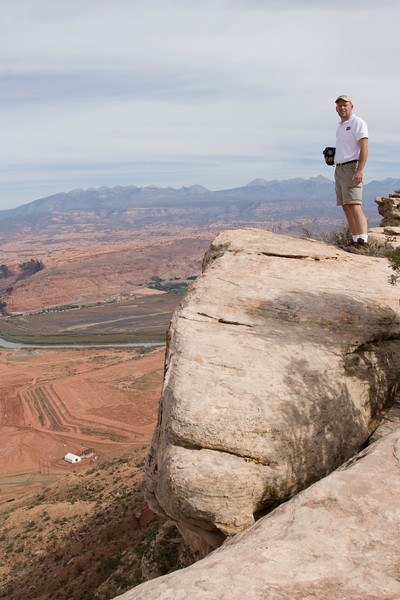 Photographer Chris Blood takes in the view