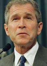 Texas Gov. George W. Bush speaks during a news conference on Thursday, March 11, 1999, in Austin, Texas. Gov. Bush declared a state of emergency in 167 on the state's 254 counties because of fire dangers caused by an abnormally dry winter. (Ap Photo/Harry Cabluck)