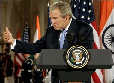 bush gestures