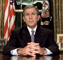 Bush podium/desk pics