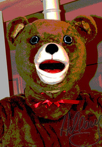 Posterized cozy bear