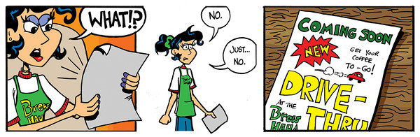 """Don't Panic! by Andy Moore<br /> <br />  <a href=""""http://www.dontpaniccomic.com"""">http://www.dontpaniccomic.com</a>"""