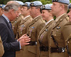 Prince Charles inspects...