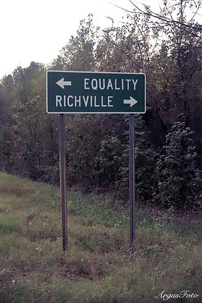 This sign is on state route 9 near Montgomery, AL If neither of these suit your politics, Eclectic is just down the road.