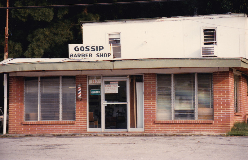 What a great name for a barber shop or beauty parlor. this was taken in the 1970's near Noccalula Falls, Gadsden. I doubt that it is still there.