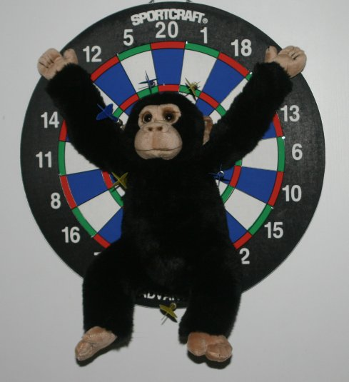 I finally found a use for that blasted monkey!!!  I'm still learning, so I haven't hit bulls eye yet, but I'm getting close!!!