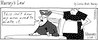 Murray's Law Comic Strips : They asked me to do a syndicated comic strip in the newspapers a few years back. Here are some of the old strips. Some of them are low-res scans, but don't worry! If you want to license any, you will be provided with clean hi-res art because I am a Professional! I'll add more of them as time permits. Move your cursor to the right of each image to view larger. Note slideshow link at upper right corner. Okay on to the laughter.