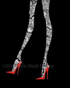 Fashion Legs in High Heels Zentangle