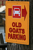 Old Goats Parking Sign - Georgia