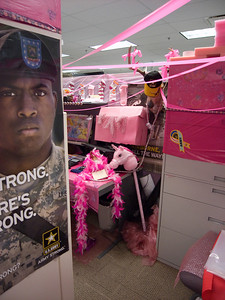 Note the Pink Princess--Army theme.