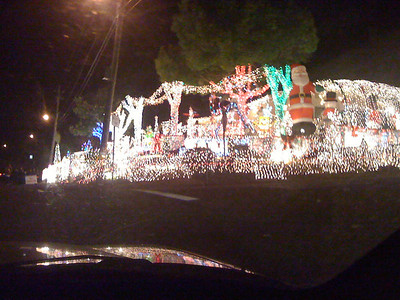 My neighbor's house at Christmas Time... $4000.00 electric bill for four weeks of display!