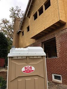 SOS Potty's (sic) At home construction, Kensington, MD, October 2019