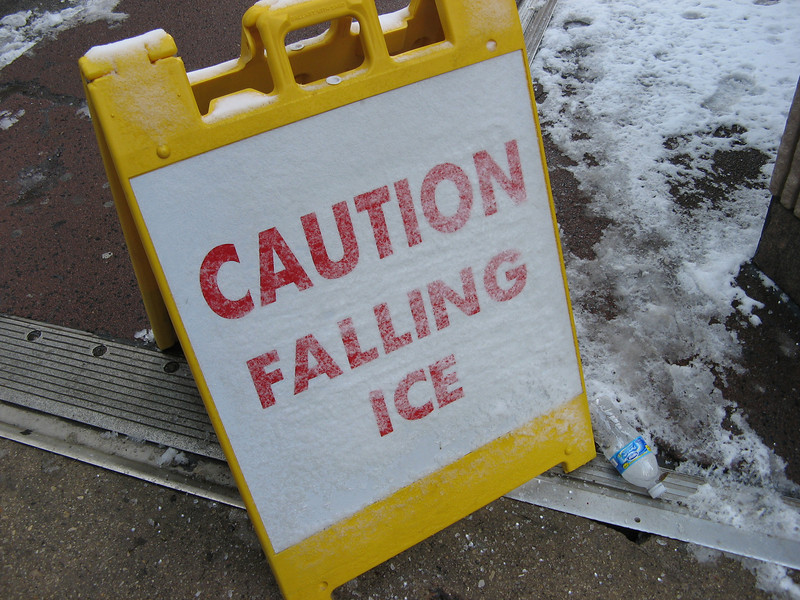 <h1>Its Called Snow</h1> ...or maybe hail.   It's another sign that does not feature our hero, but it was the first time I've seen this sign.