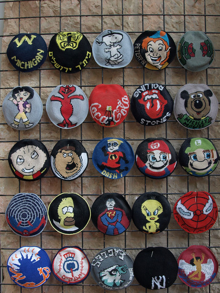 Kippas (head coverings worn by religious Jewish men); can't imagine anyone wearing these, though.
