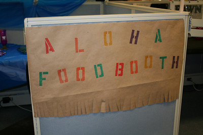 Hungry? Stop by the Aloha Food Booth.