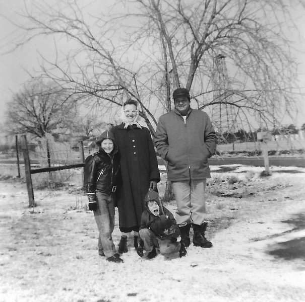 The Humphries Family Snow Scene