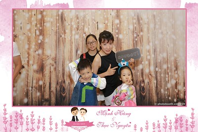 Hùng & Nguyên Wedding instant print photobooth - Chụp ảnh lấy ngay Tiệc cưới - WefieBox Photobooth Vietnam