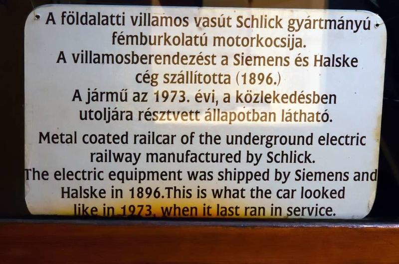 BKV 1, Underground Railway Museum, Deak Ferenc ter station, Budapest, 9 May 2018 3.