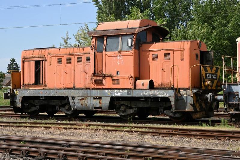 MAV 438 148, Hatvan traction depot, 8 May 2018.