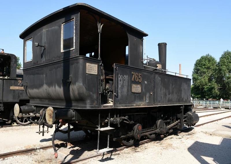 MAV 0-6-0T 765, Hungarian Railway Museum, Budapest, 6 May 2018 2.