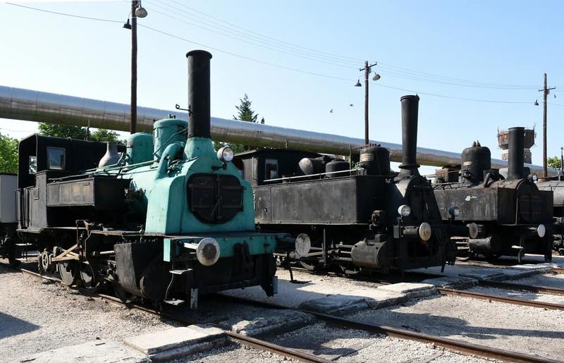 KkStB 0-6-0T 480, MAV 0-6-0T 765 & Garam Valley sugar mill 0-8-0T No 2, Hungarian Railway Museum, Budapest, 6 May 2018.