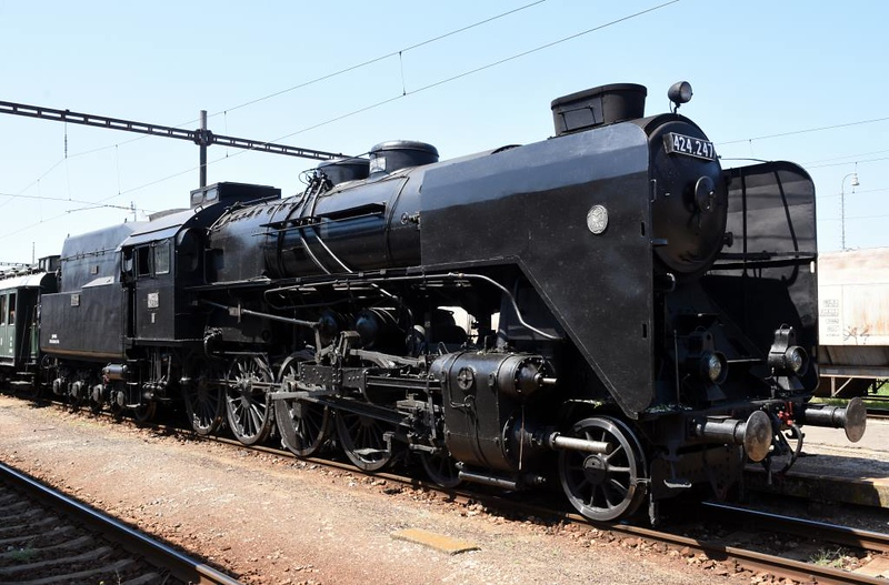 MAV 424.247, Sturovo, Slovakia, Sun 6 May 2018. Here is a view of the 4-8-0 before it went to the musuem.