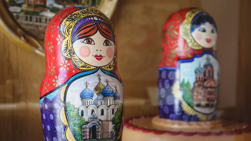 Russian dolls made of marzipan in Szentendre