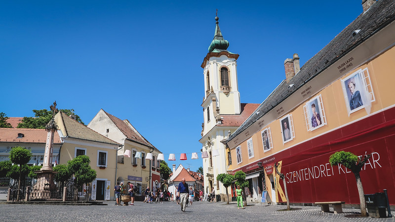 The main square in Szentendre, Hungary