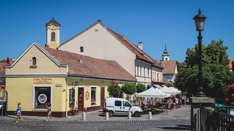 Cobbled streets and pastel colours in Szentendre