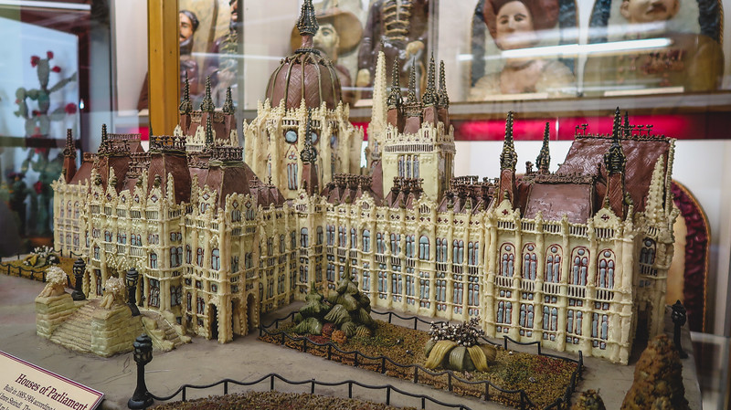 Hungarian Parliament Building made out of marzipan.