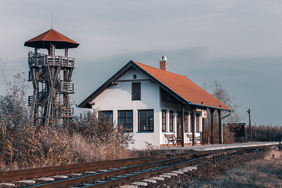 birding tower in Hortobagy, Hungary