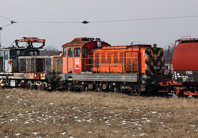 1) M44 062 at Szolnok Depot on 1st March 2011