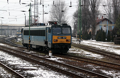 V63 017 at Szolnok Depot on 1st March 2011