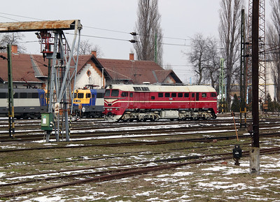 M62 001 at Szolnok Depot on 1st March 2011