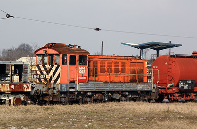 2) M44 062 at Szolnok Depot on 1st March 2011