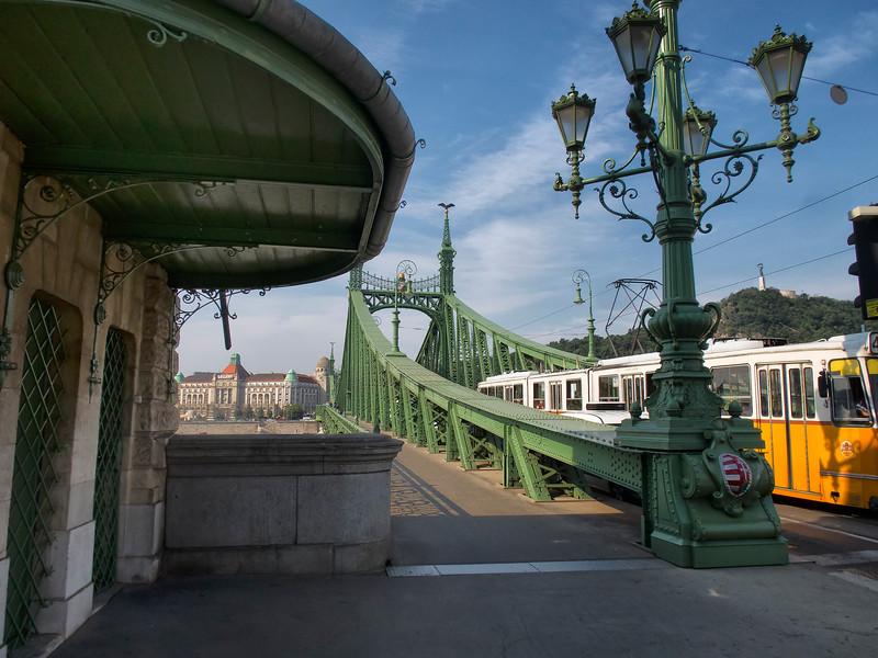 Hotel Gellert and Liberty Bridge (Szabadság híd), Budapest, Hungary