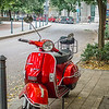 Red Vespa in the Park