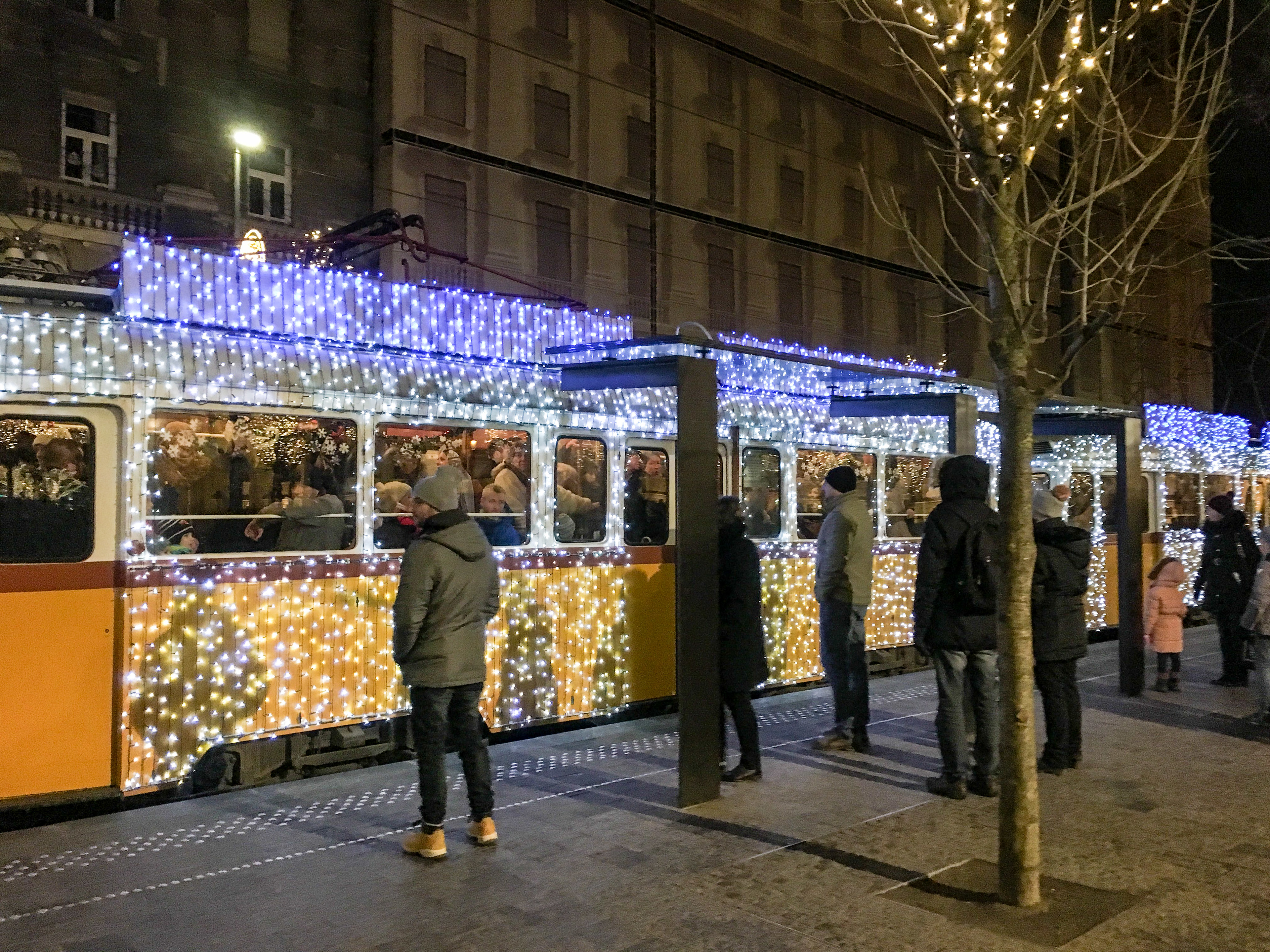 what to wear in budapest in december: bundle up on the trams