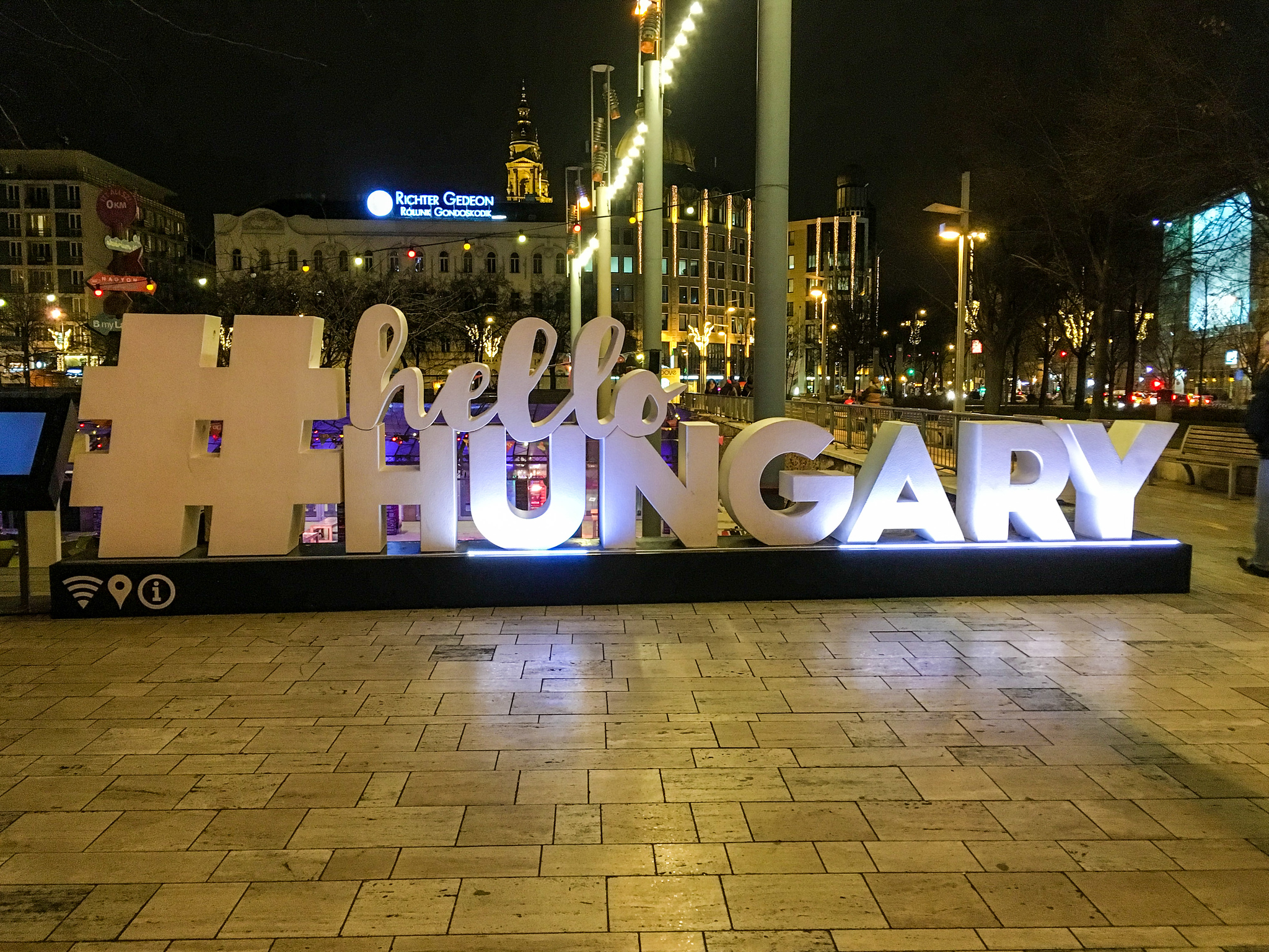 what to wear in budapest in january: a warm jacket to see the city at night
