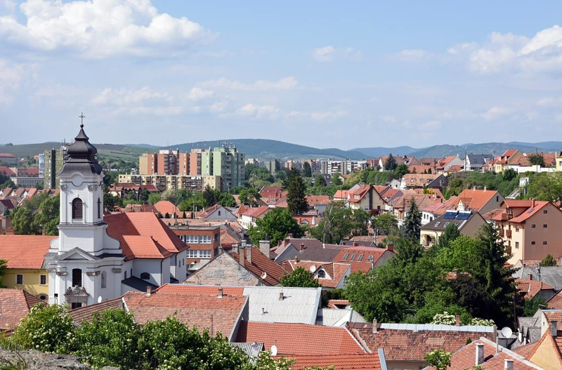 Eger, Hungary, 8 May 2018 2.  Looking north west from the castle.
