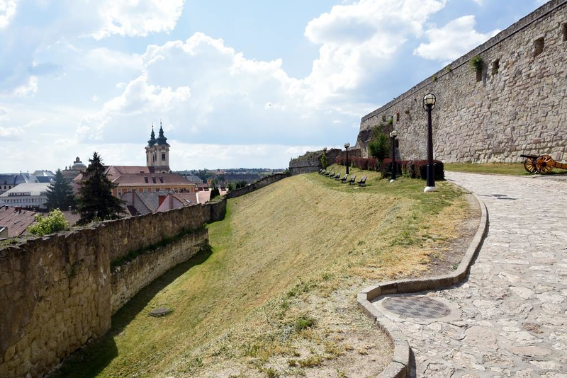 Eger Castle, Hungary, 8 May 2018 4.  Here are three views of the castle walls.